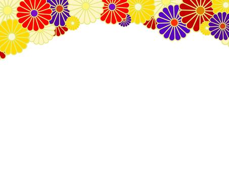 菊花圖案_框架/ JP樣式