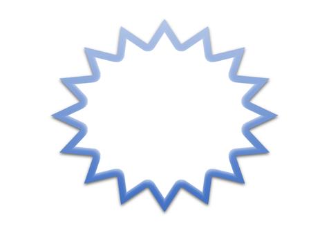 톱니 프레임 (파란색)