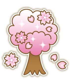 Glittering cherry tree