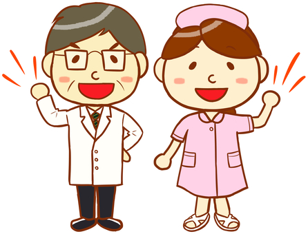 Doctor and nurse (pink)