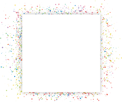 Colorful dot frame