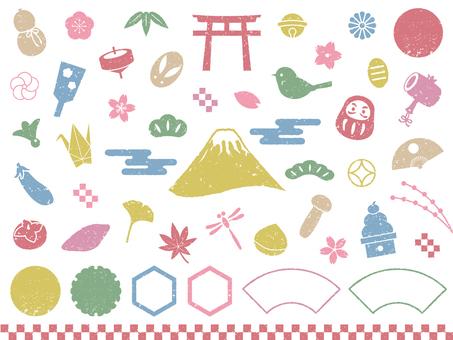 화려한 일본식 도장