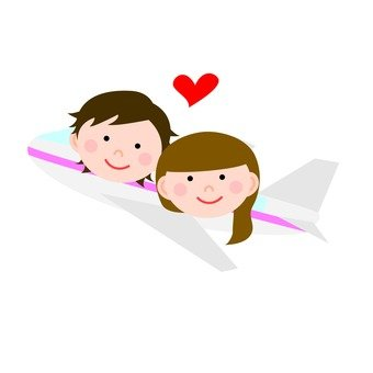 Couples and going out by plane