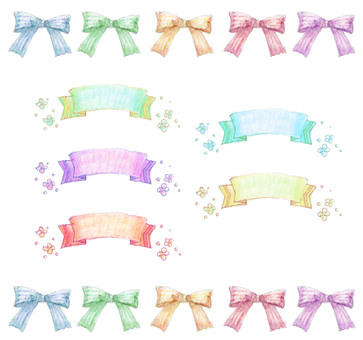 Various ribbon sets
