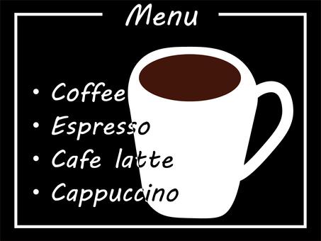 Cafe menu (blackboard POP style)