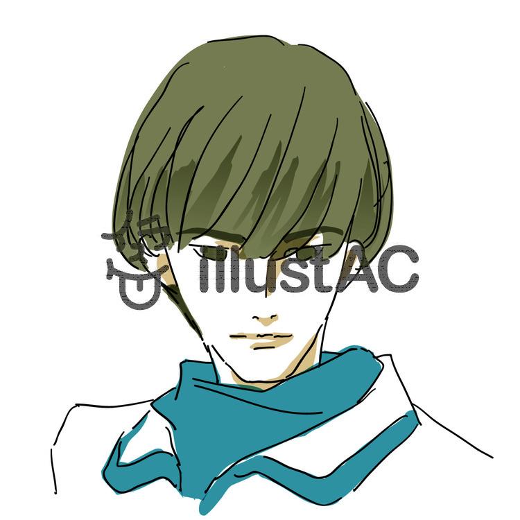 男性のヘアスタイルマッシュイラスト No 940963無料イラスト