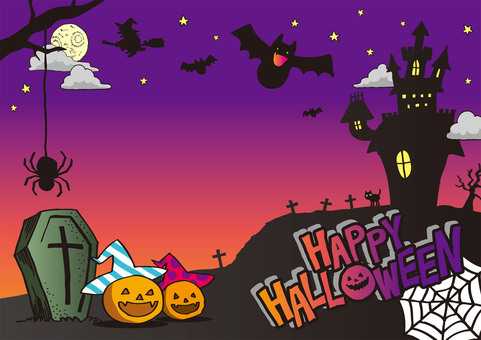 Hand-painted Halloween color background