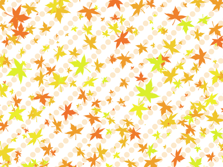 Autumn leaves and dot background 2
