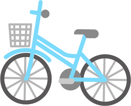 Light blue bicycle