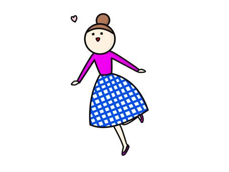 Fashionable check skirt