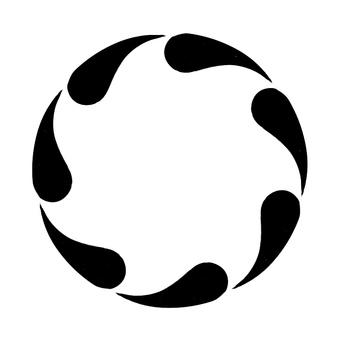 Monochrome vertical circular frame 6