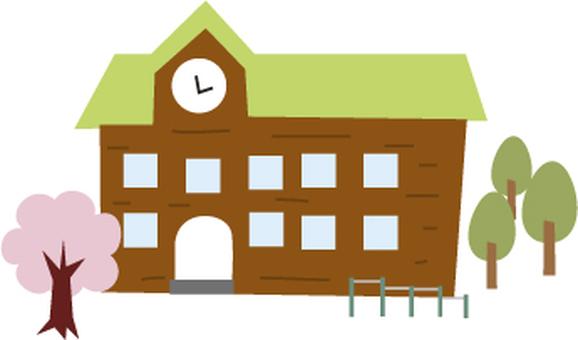 Wooden school building