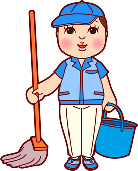 Cleaner work clothing male mop
