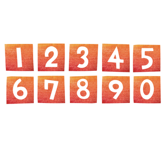 Numbers made with cutouts (squares)