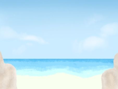 Sea, beach and rocks