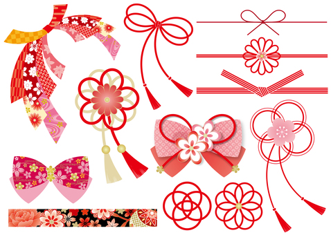 Various Japanese style ribbons