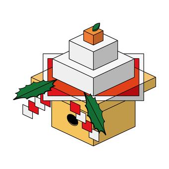 Kagami cake (Isomete)