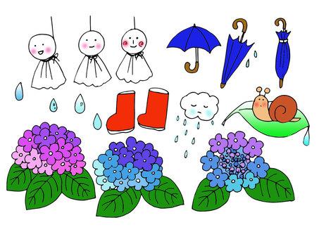 Rainy season material (color)