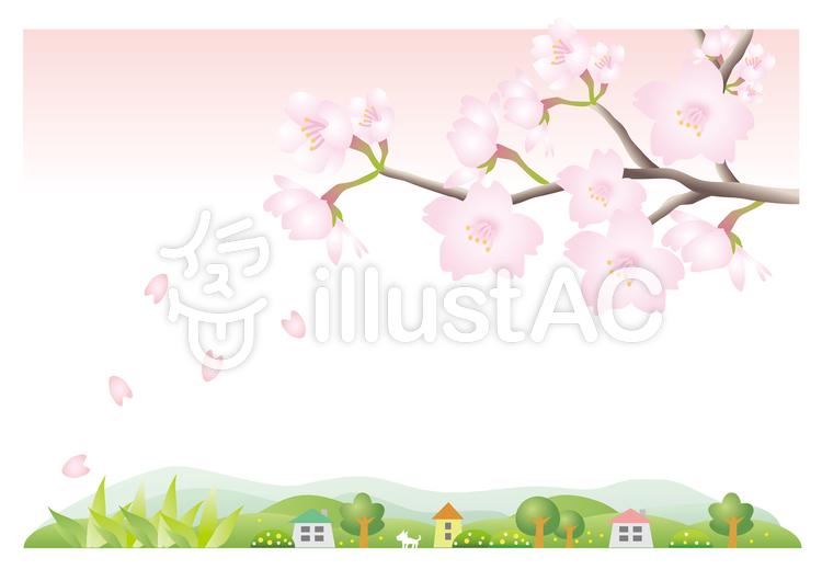 桜の風景のイラスト