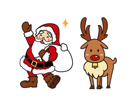 サンタクロースとトナカイさん