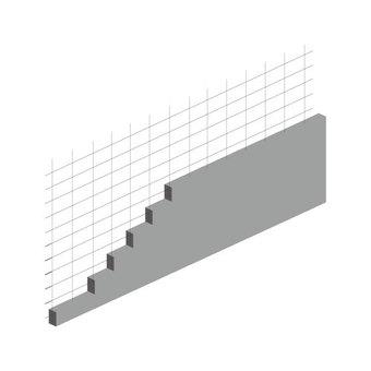 Block fence (rebar stairway hidden) No staircase wire