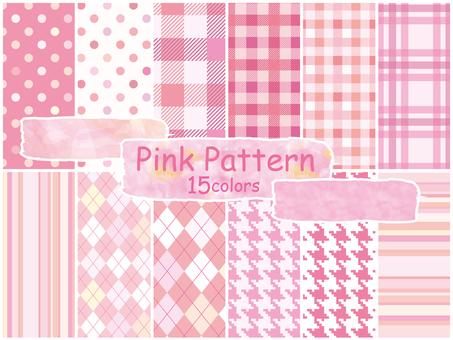 圖案粉紅色圖案背景壁紙春天可愛圖案