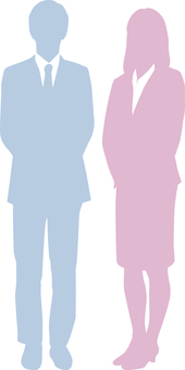 Businessman _ Silhouette _ Men and women _ Thin color