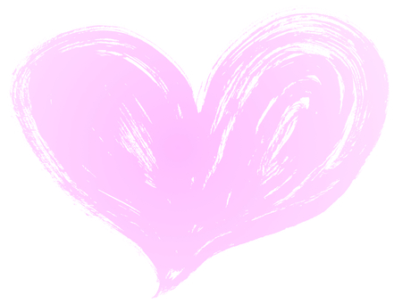 "Brush character ""heart shape"" ①"