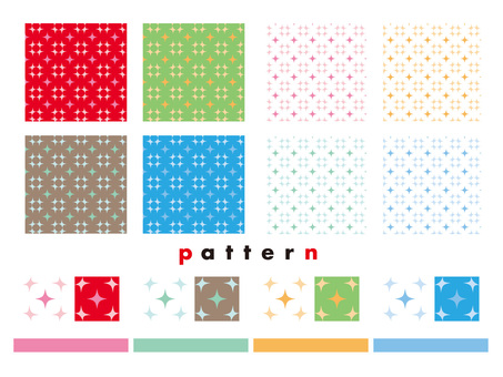 Star pattern pattern various colors