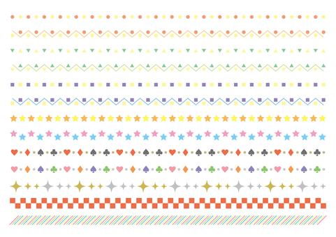 18-line / decorative rule set 3 light color