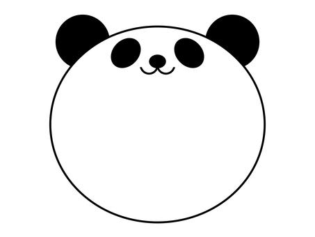 팬더 메모 프레임 동물