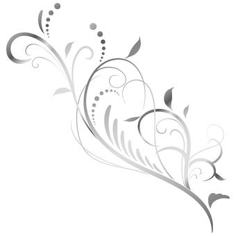 蔓草のフレーム2(銀)