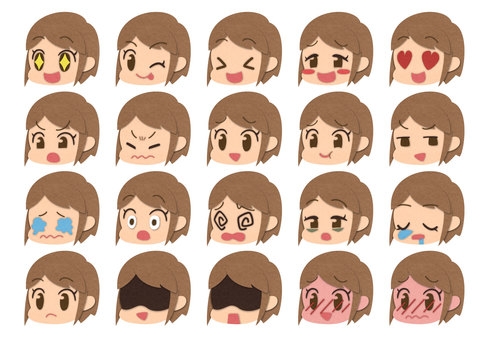 Various expressions (female) Part 2