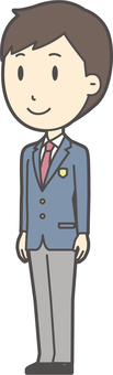 High school student blazer male-239-whole body