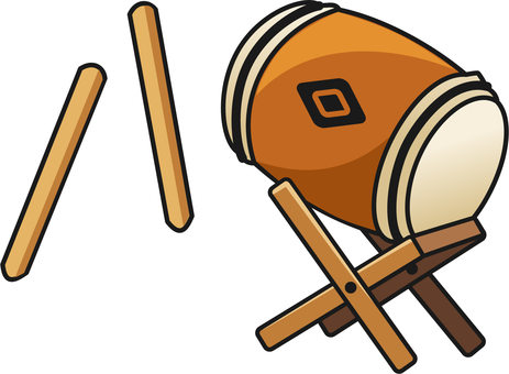 Japanese drum and bee