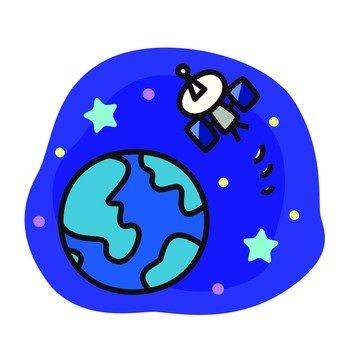Artificial satellite 2