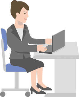 Business woman using a personal computer at the office
