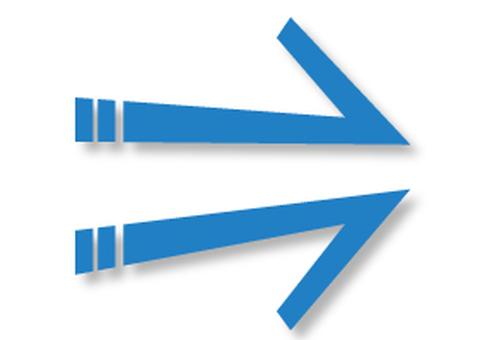 Arrow _ Warp _ Blue