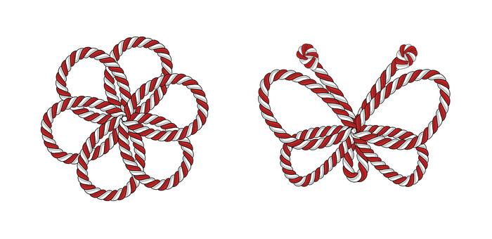 Red & white string
