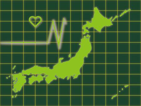 일본지도 11 심전도