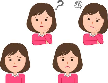 여성의 표정 2