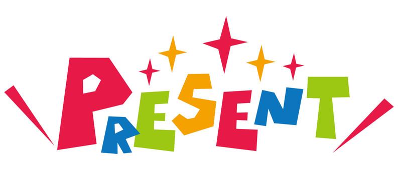 PRESENT ☆ gift ☆ logo icon
