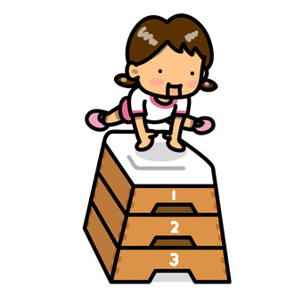 Girl flying jumping box