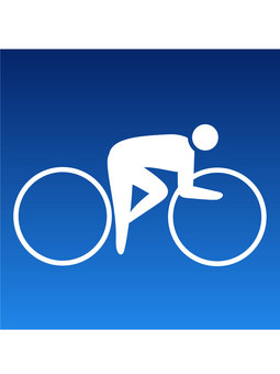 Bicycle competition icon