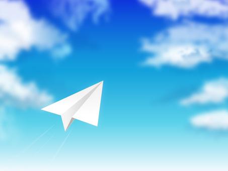 蓝蓝的天空和纸飞机01