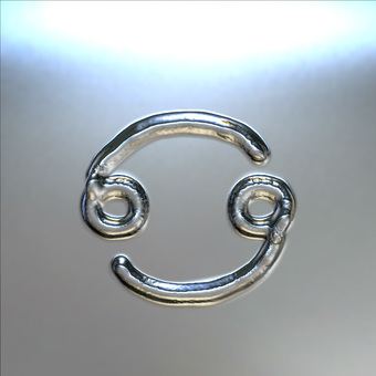 Metal plate - Cancer mark
