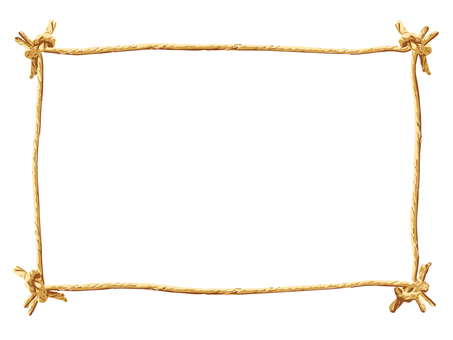 Simple frame of paper string