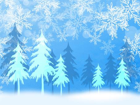 Christmas Mino tree snow scene