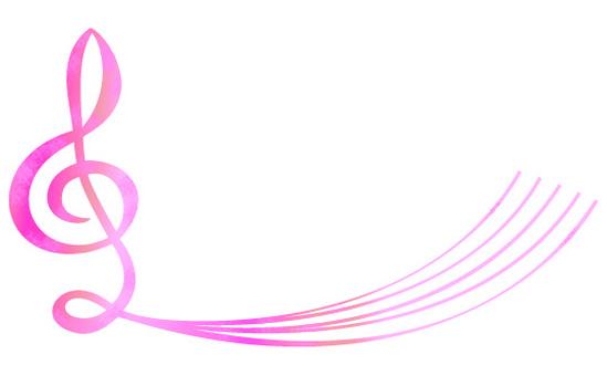 음자리표 핑크