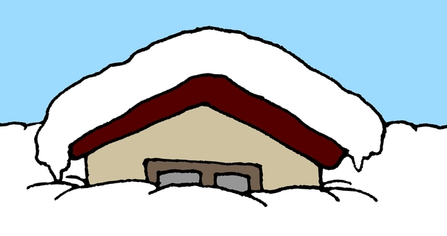 House buried in the snow